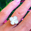 Серебряное кольцо Клевер с перламутром - Брендовое кольцо Клевер серебро с перламутром, фото 6