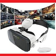 Очки виртуальной реальности VR BOX Z4 с наушниками и пультом, фото 1