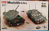 Конструктор Sluban 0839 Боевой танк 2в1 Leopard 2A5 MBT 766 деталей, фото 3
