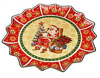 """Блюдо новогоднее, фарфоровое круглое """"Рождество """"Cristmas collection"""", 38 см"""