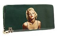 Модный женский кошелек 858A-5 Dark Green на молнии