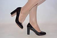 Туфли женские Meko Melo 1609 чёрные кожа-лак каблук размеры 37,38, фото 1