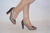 Туфли женские it Girl 7236-20 коричневые кожа каблук размеры 37,39, фото 1