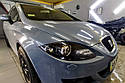 Seat Leon 2007 - полировка и оклейка фар бронепленкой, фото 3