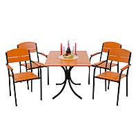 """Комплект мебели для сада """"Фелиция"""" стол (120*80) + 4 стула Белый, фото 1"""