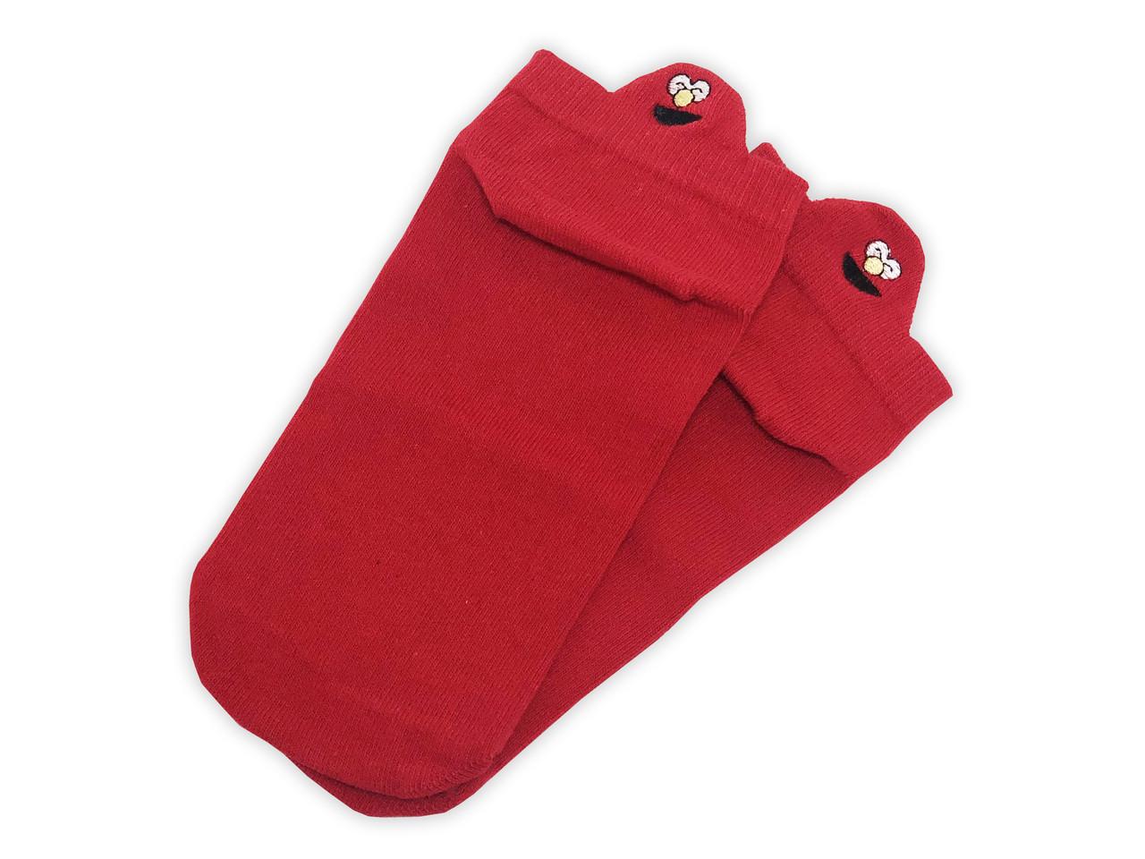 Носки Neseli короткие красные смайлы 7405