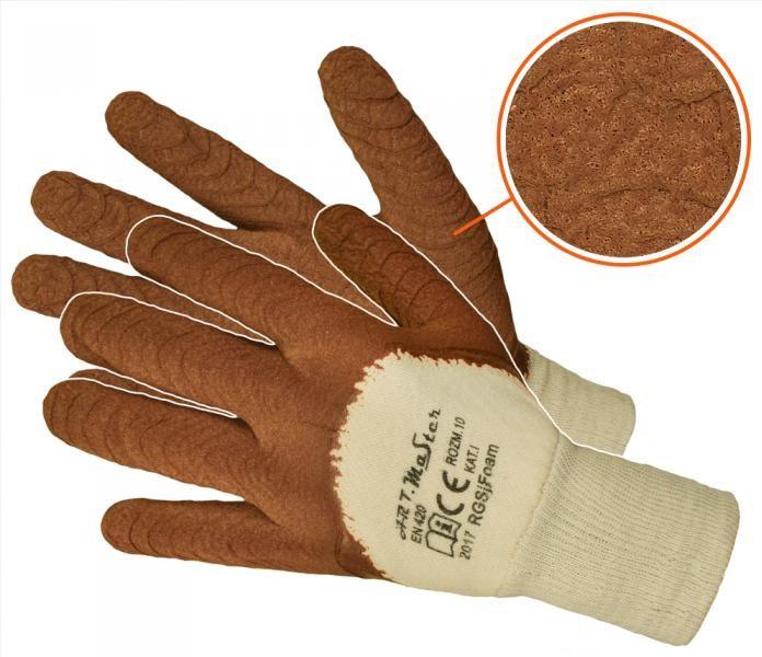 Защитные перчатки Artmas RGSj kat.1, коричневый
