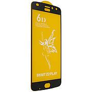 Защитное стекло 6D на Motorola Z2 PLAY Black