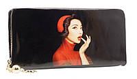 Модный женский кошелек 858A-5 Black на молнии