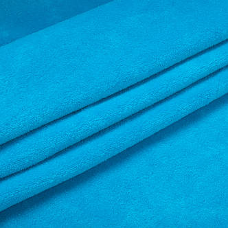 Тканина трикотажна Велюр, Х/Б, 95% на 5%. Спів, колір - Бірюзовий, у наявності, купити в Україні, фото 2