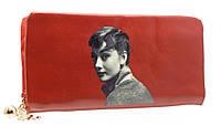 Модный женский кошелек 858A-5 Red на молнии