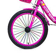 """Велосипед 18 """"SCALE SPORTS"""" Розовый T18, Ручной  и дисковый  тормоз Быстрая Доставка Гарантия Качества, фото 4"""