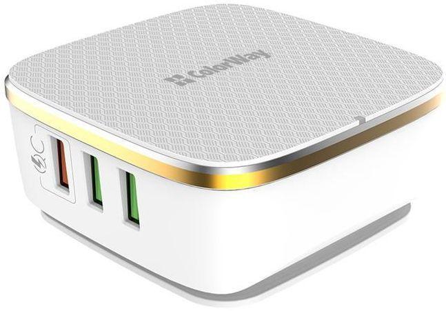 Мережевий зарядний пристрій ColorWay 1QC3.0+5AutoID 6USB 7A White (CW-CHS019Q-WT)