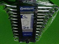 Набор ключей гаечных комбинированных СТАНДАРТ 12 ед. на холдере NKK12ST (гаечные, рожково-накидные)