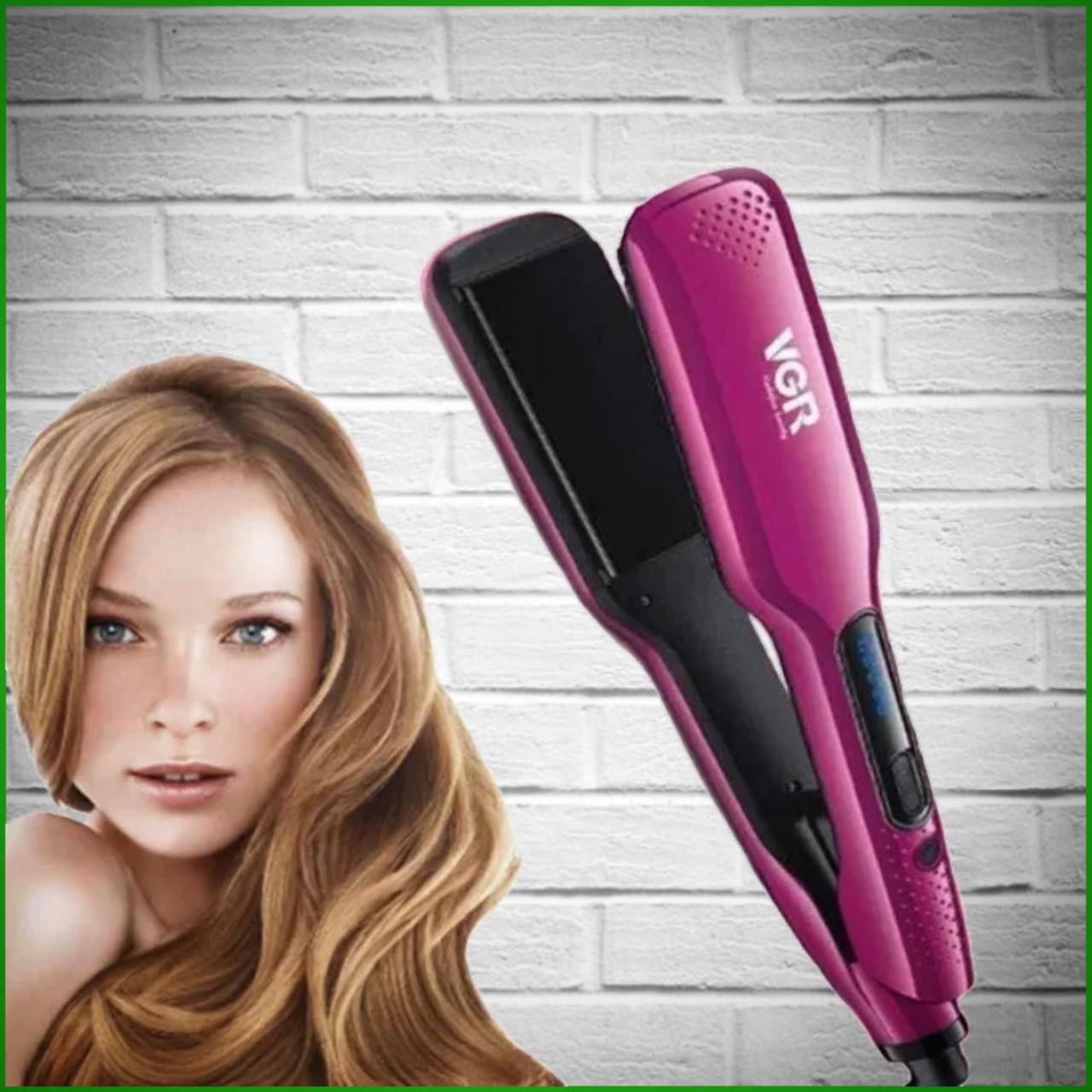 Лучший утюжок выравниватель для волос VGR Утюжок для волос VGR V-506 Розовый