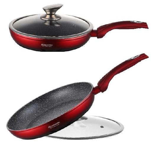 Сковорода з кришкою мармурове покриття Edenberg EB-3339 - 26 см