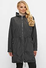 Модный стильный женский плащ для полных серого цвета, фото 3