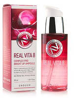 Сыворотка для лица с комплексом витаминов Enough Real Vita 8 Complex Pro Bright Up Ampoule, 30 ml