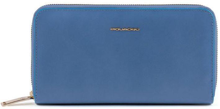 Кожаный кошелек Piquadro Bl Square синий