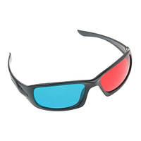 3D очки стерео анаглиф пластик красно-синие