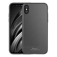 Накладка для iPhone X/iPhone XS iPaky Carbon Fiber Series/Soft TPU Case Gray