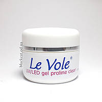 Гель для наращивания ногтей без опила прозрачный UV/Led gel Le Vole proline clear 15 ml