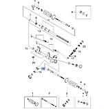 Подшипник рулевой рейки нижний Деу 10x26x8, Daewoo, 520336, фото 3