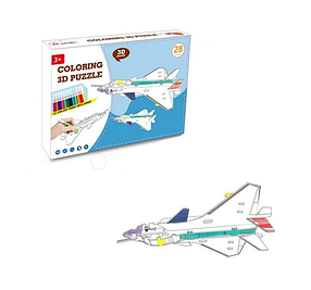 "3D конструктор HONGZHAN ""Літак"", 37 частин, 12 фломастерів, 8N399-12"
