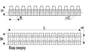 Зажим контактный винтовой ЗВИ-10 н/г 2,5-6мм2 12пар IEK, фото 2