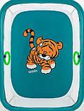 Манеж Qvatro Солнышко-02 мелкая сетка  морская волна (tiger), фото 2