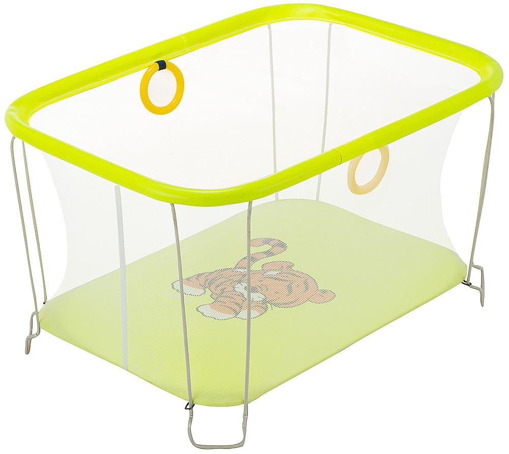 Манеж Qvatro Солнышко-02 мелкая сетка  желтый (tiger)