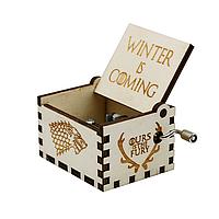 Музыкальная шкатулка винтажная Игра Престолов (Winter Coming) дерево