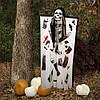 Декор для хэллоуина Призрачный Череп (125см) белый с черным 10095