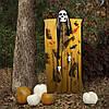 Декор для хэллоуина Призрачный Череп (125см) горчичный с черным 10096