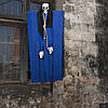 Декор для хэллоуина Призрачный Череп (95см) синий 10080