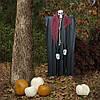 Декор для хэллоуина Призрачный Череп (95см) черный с бордо 10081