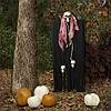 Декор для хэллоуина Призрачный Череп (95см) черный с пеплом розы 10083