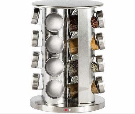 Подставка карусель для специй Original Spice Carousel, 16 емкостей, стекло, нержавеющая сталь