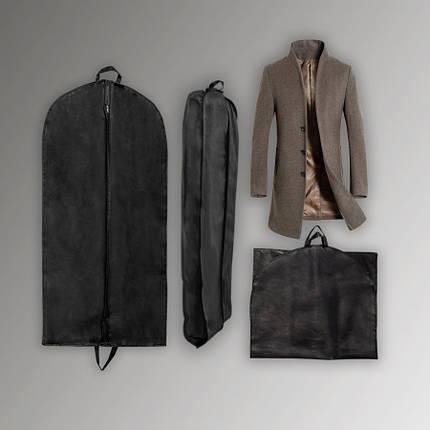 Чохол сірого кольору для об'ємних речей 60*110*10 див. Для зберігання та пакування одягу на блискавці флізеліновий, фото 2