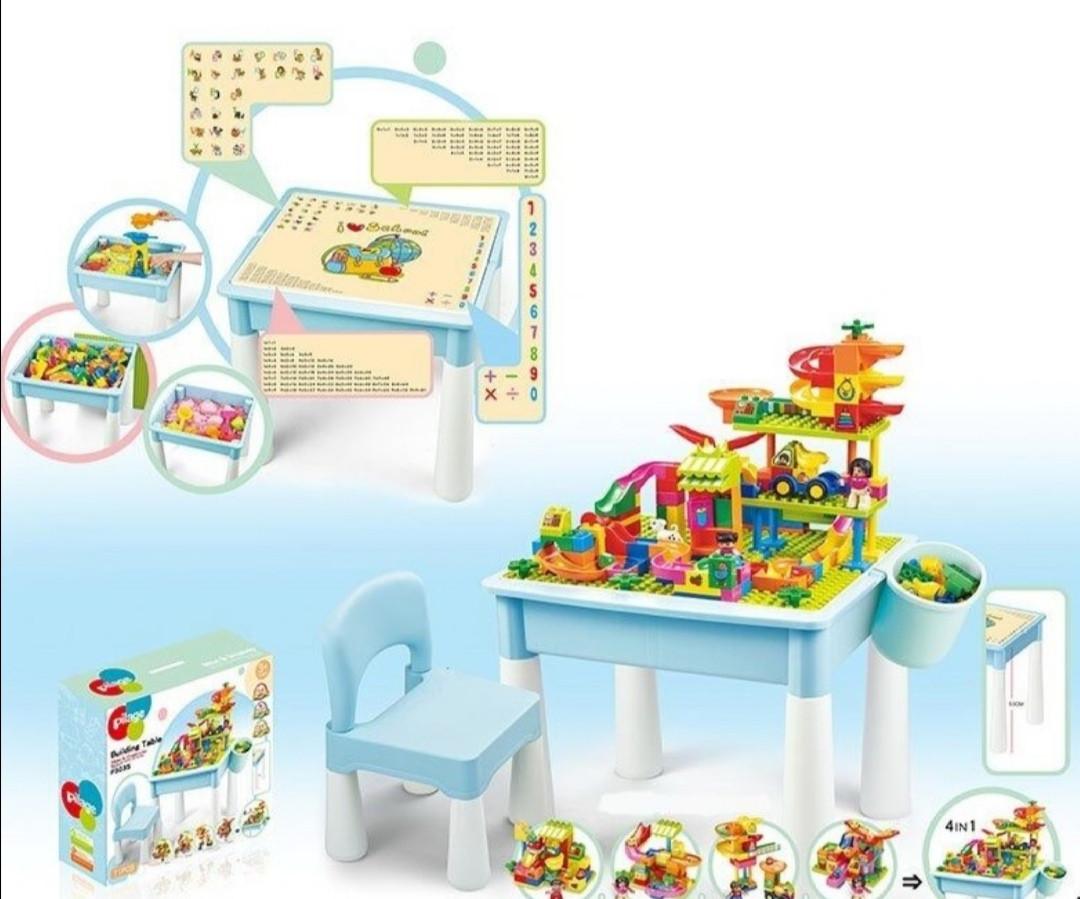 Столик игровой Pilage с конструктором 4 в 1