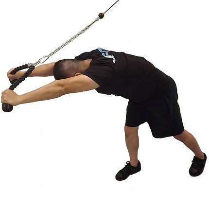 Канатная рукоять для блочной тяги LiveUp Pull Rope, фото 2
