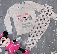 Детская пижама для девочки со штанами 92-98 рост