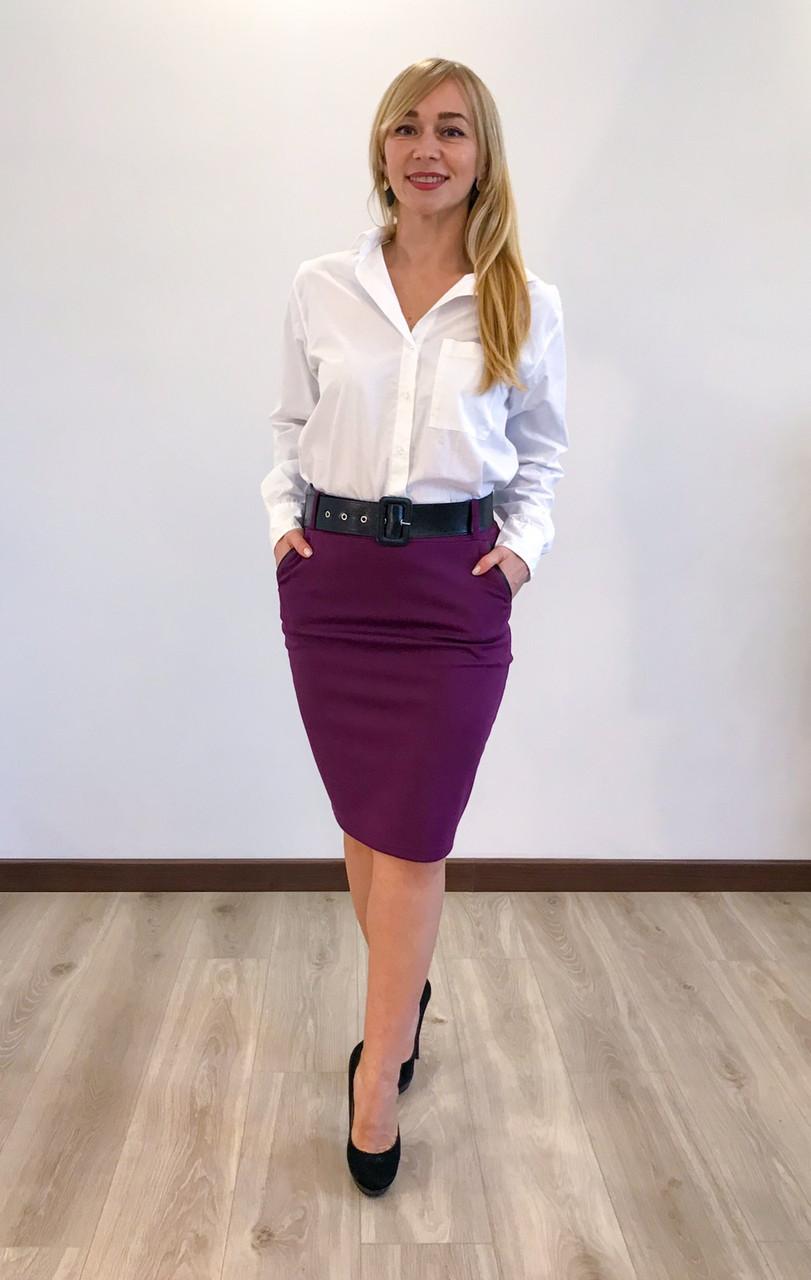 Спідниця жіноча бордового кольору