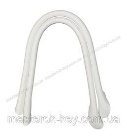 Кожаные ручки для сумок пришивные 40см цвет Белый