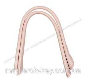 Кожаные ручки для сумок пришивные 40см цвет Розовый