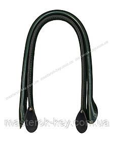 Кожаные ручки для сумок пришивные 50см цвет Темно-зеленый