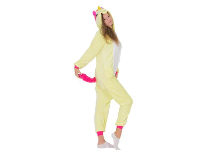 Пижама кигуруми Единорог салатовый S (150-160см)