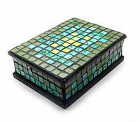 Шкатулка для украшений мозаичная 18Х13Х5,5 см
