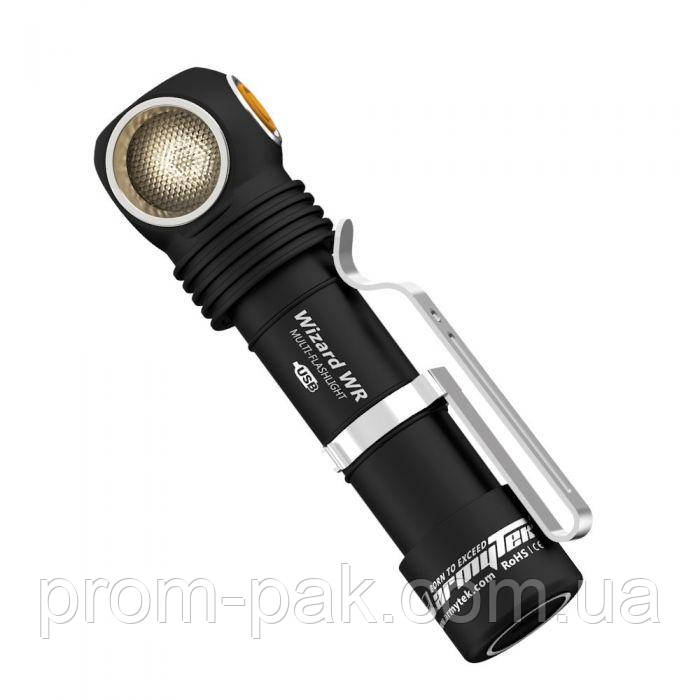 Налобный фонарь Armytek Wizard USB /3200 /XP-L /WR Холодный  свет  + красный СВЕТ