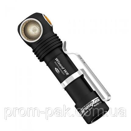 Налобный фонарь Armytek Wizard USB /3200 /XP-L /WR Холодный  свет  + красный СВЕТ, фото 2